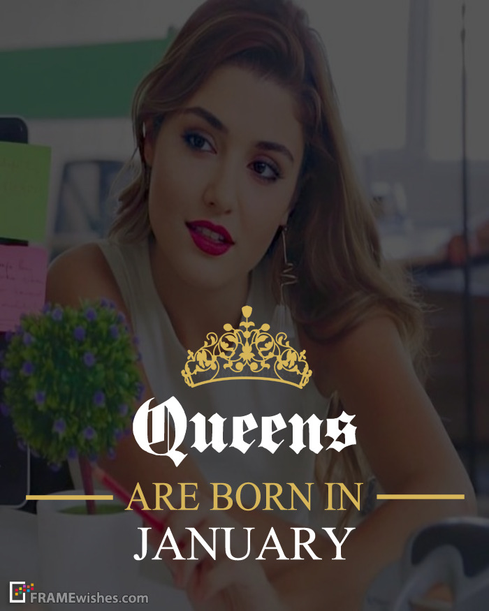 Queens Are Born In January Frame