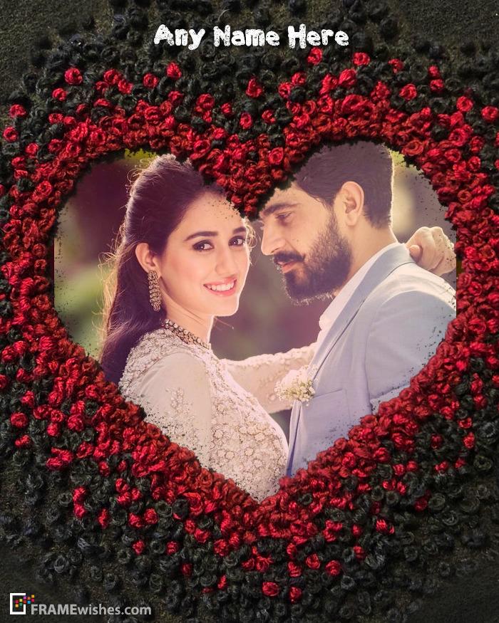 Romantic Heart Photo Frame Maker