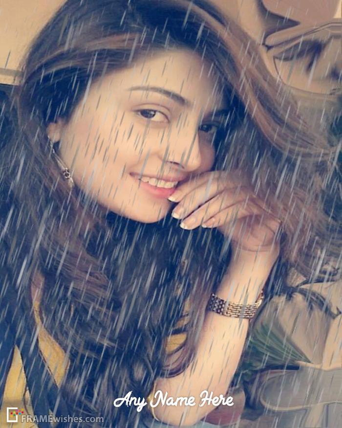 Romantic Rain Photo Frame Online