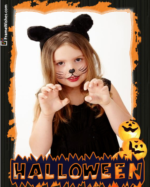 Scary Halloween Photo Frame Free Online Edit For Friends And Whatsapp Dp