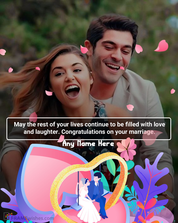 Special Wedding Photo Frame Wishes