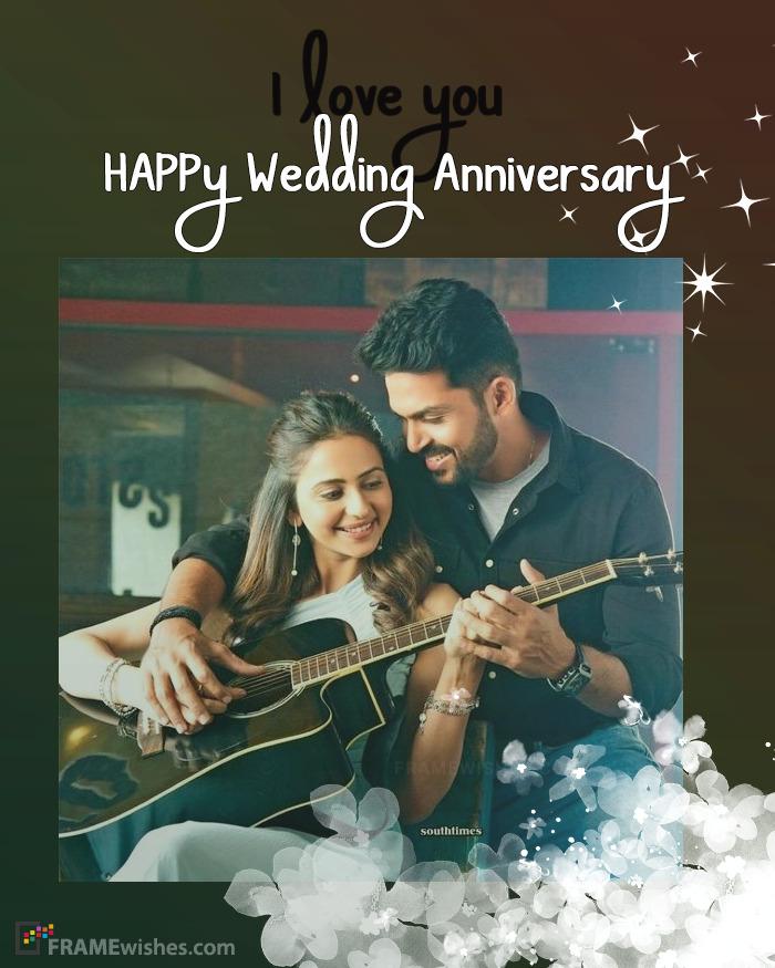 Make Wedding Anniversary Photo Editing Online Free