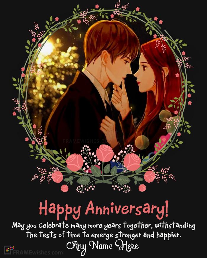 Online Wedding Anniversary Photo Frames Editing