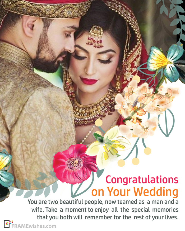 Best Wedding Wishes Congratulations Photo Frame