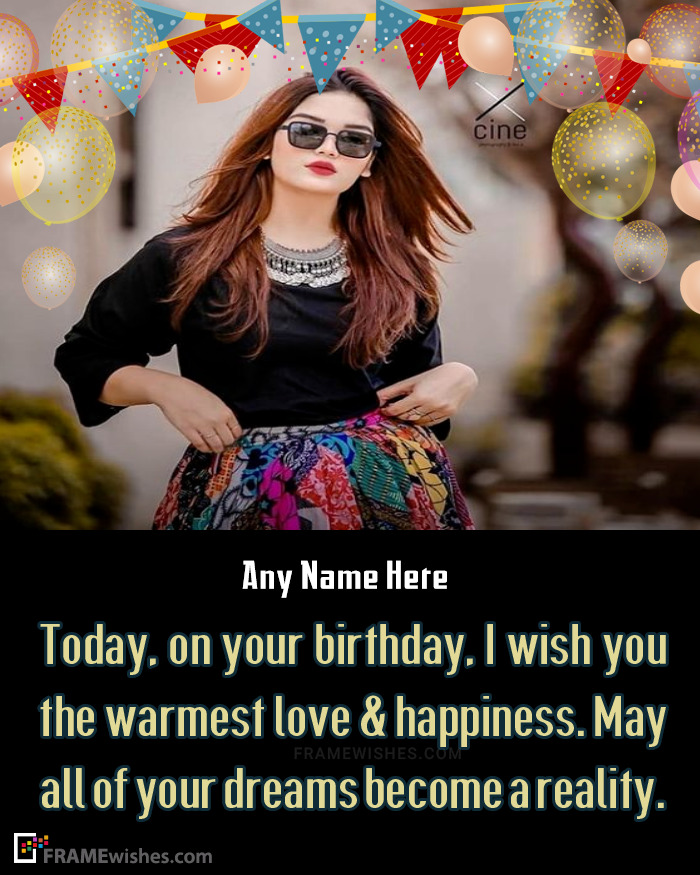 Wish Birthday With Photo Of Your Friend