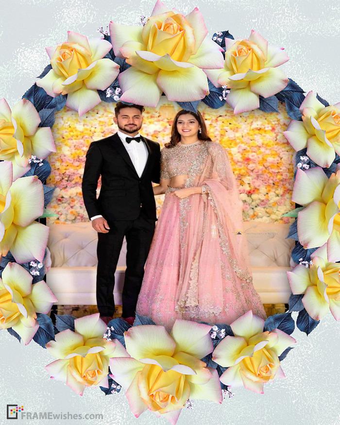 Yellow Rose Photo Frame
